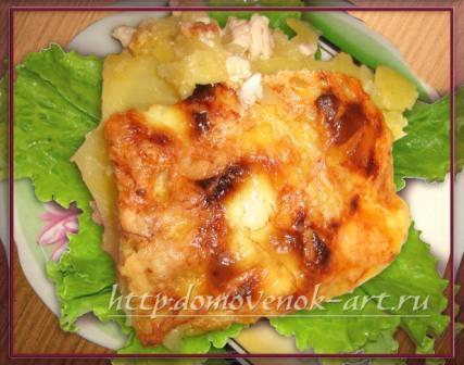 Картошка под сыром запеченная в духовке