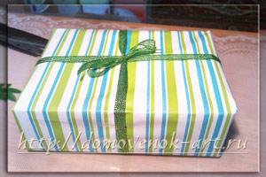 упаковка подарка своими руками в бумагу