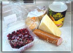 ингредиенты для бутербродов в духовке