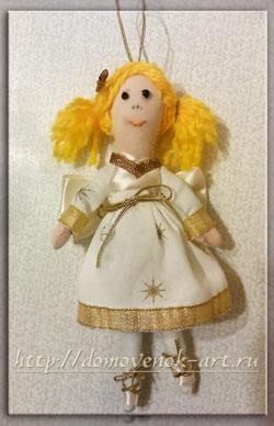 елочное украшение кукла тильда