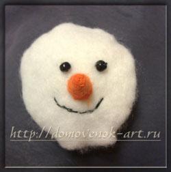 голова снеговика своими руками