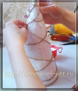 как сделать ёлочку из ниток своими руками