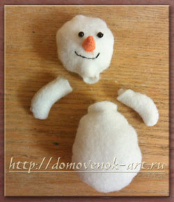 как сделать новогоднего снеговика