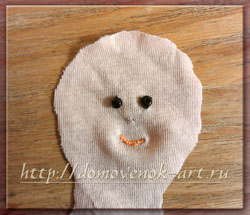 кукла тильда на ёлку лицо