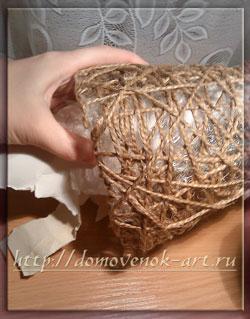 новогоднее украшение своими руками елочка из ниток