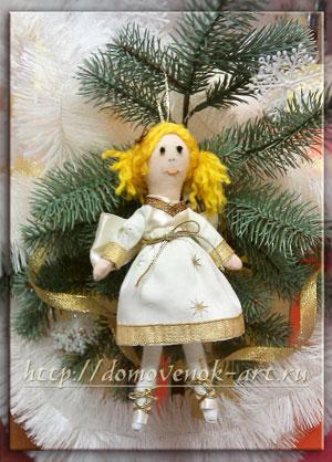 новогодние игрушки своими руками кукла тильда
