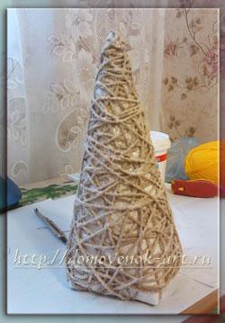 новогодняя елочка из шпагата