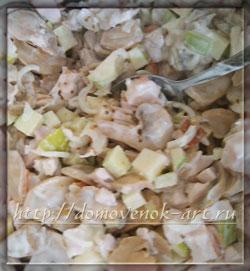 рецепт вкусного салата с копченой курицей