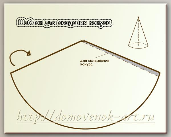 Как сделать конус из картона для елки