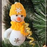 снеговик своими руками новогодний