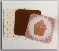 открытка с кексом своими руками