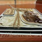 Мужская открытка-конверт, вид сбоку