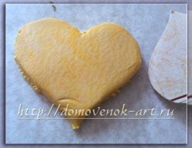 сердце из полимерной пластики