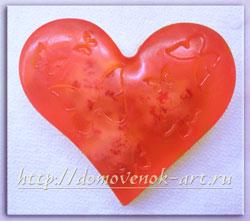 валентинка своими руками мыло