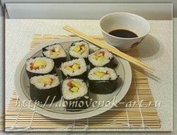 рецепт приготовления суши: роллы с угрем