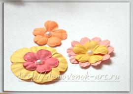 Цветочки для пасхальной открытки 2013