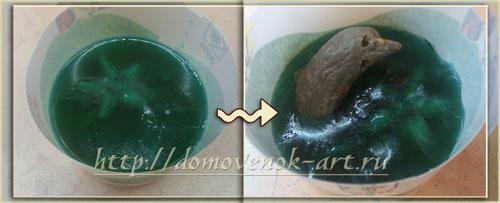 оригинальное мыло из мыльной основы с дельфином