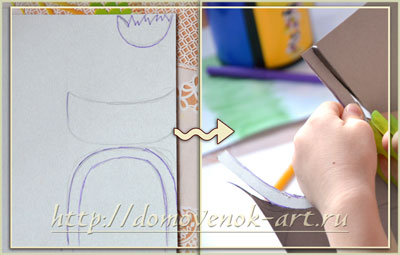 Пасхальные поделки с детьми: корзинка из крупы