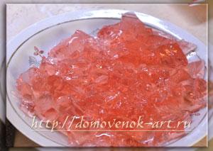 клубничное желе для творожного торта
