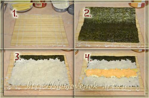 рецепт приготовления суши с сыром