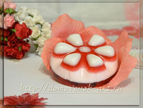 рецепты мыла из основы с лепестками роз