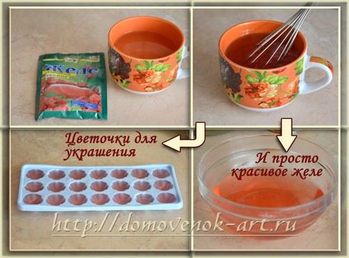 Как сделать украшение на торте из желатина