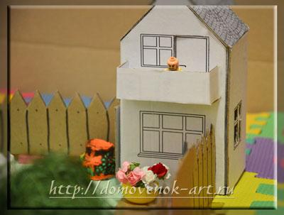 домик фермера из картона