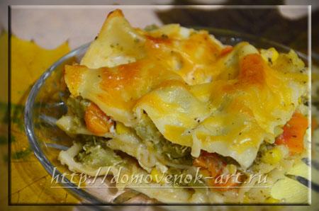 Рецепт овощной лазаньи с пошаговыми фото
