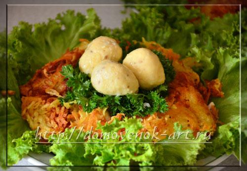Пошаговый рецепт салат Гнездо глухаря