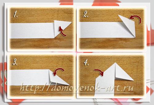 простое сердечко оригами из бумаги сложить