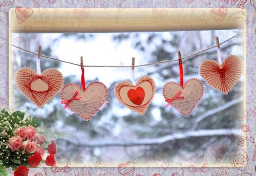 Простое украшение ко Дню Святого Валентина