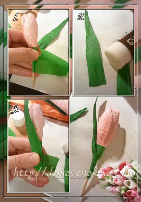 конфетные цветы тюльпаны своими руками