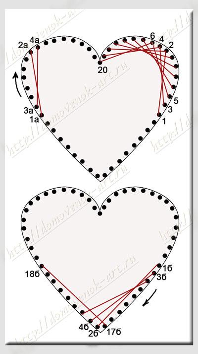 изонить сердце схема 3