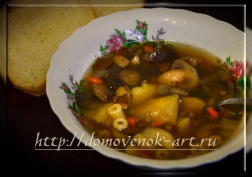 Грибной суп в мультиварке Панасоник