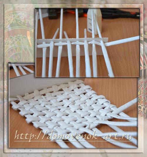 Плетение квадратной корзины для начинающих пошагово 13