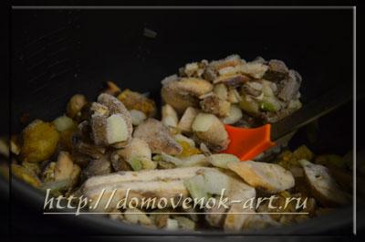 рецепт для мультиварки суп из замороженных грибов