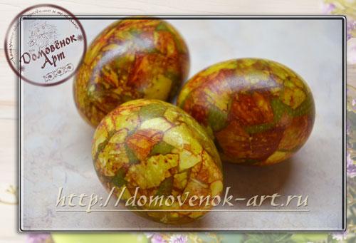 Мраморные яйца на Пасху мастер-класс