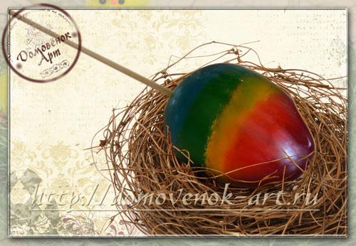 Мыло яйцо из мыльной основы