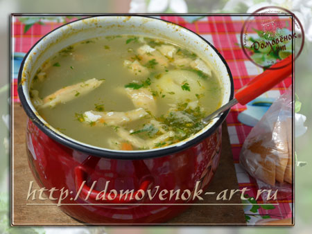 Дачный суп из лосося, рецепт