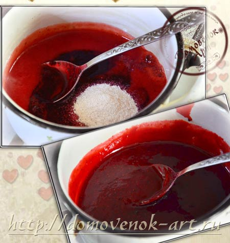 как сделать клубничный джем для торта валентинки