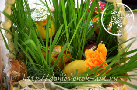 Яркая пасхальная идея - яйца в траве