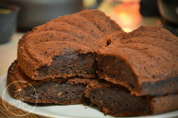 Шоколадный тыквенный пирог с кабачком. Рецепт