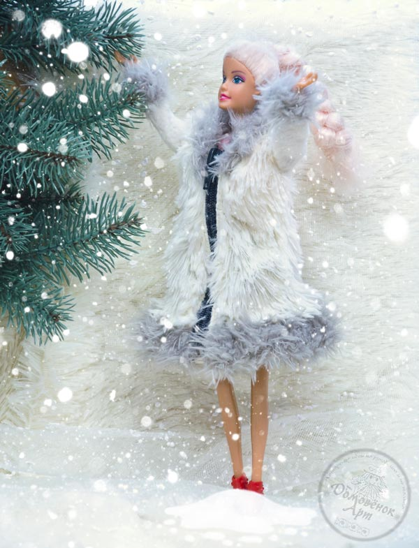 Мастер-класс Шуба для куклы Барби
