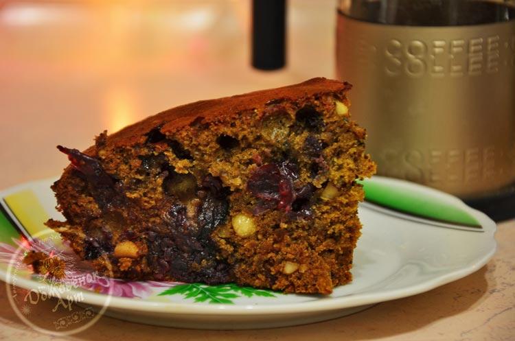 Рецепты постной выпечки - простой, но очень вкусный кофейный пирог . Проверенный рецепт