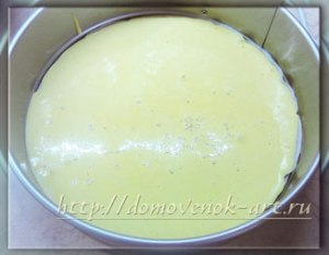 бисквитный пирог тесто