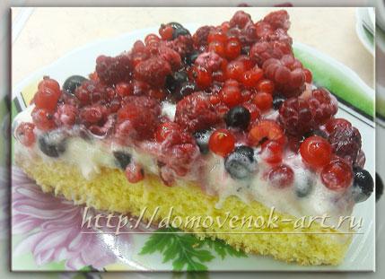 рецепт пирога с ягодами и сметаной