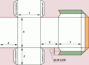 шаблон коробочки для чая