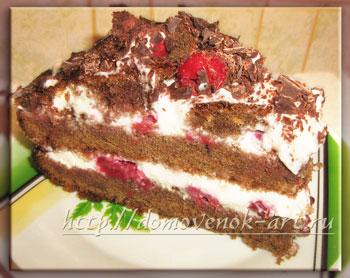 бисквитный торт Черный лес