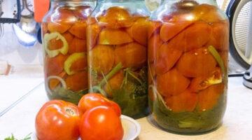 Маринованные помидоры половинками на зиму «по-московски». Лучший рецепт