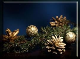 новогодние шишки декор